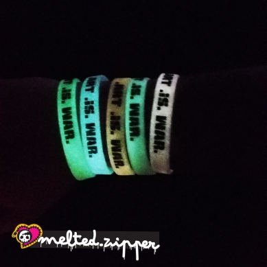Art is War bracelet glowing