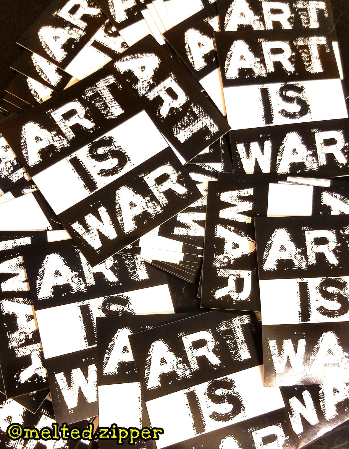Art is War Stickers